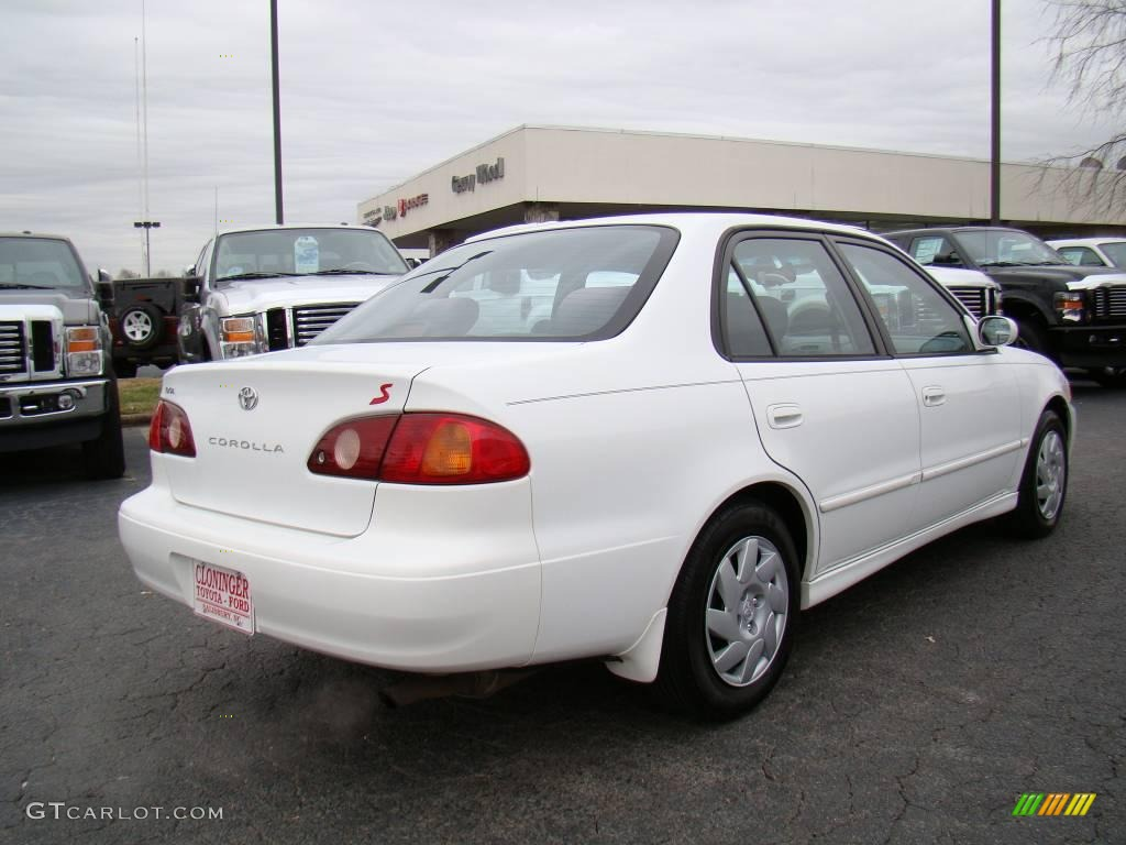2001 Corolla S   Super White / Light Charcoal Photo #3