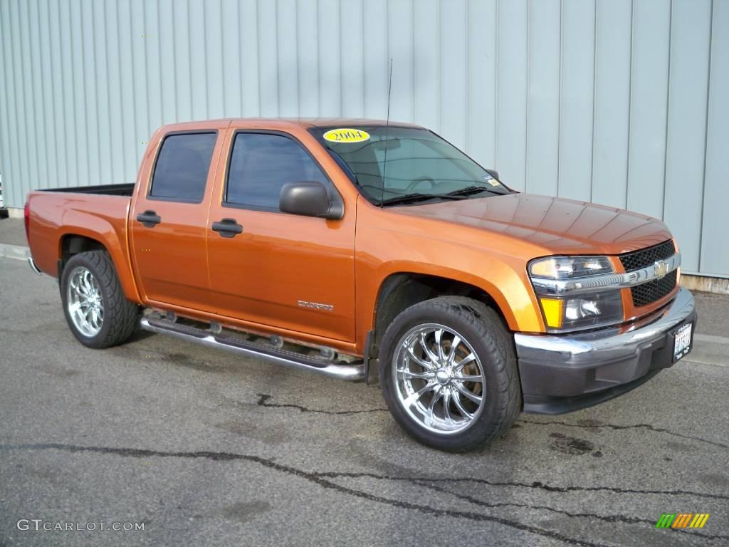 2005 Chevy Colorado Crew Cab 2004 Sunburst Orange Metallic Chevrolet Colorado LS Crew Cab #2434037 ...