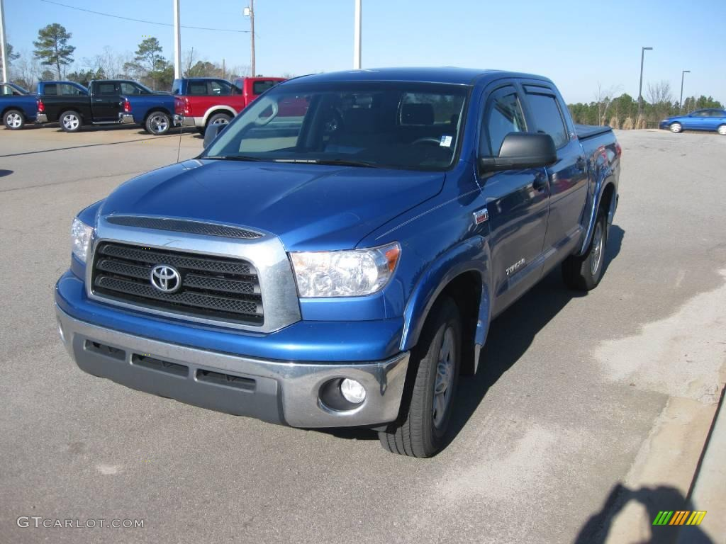 2008 Tundra SR5 CrewMax - Blue Streak Metallic / Graphite Gray photo #1