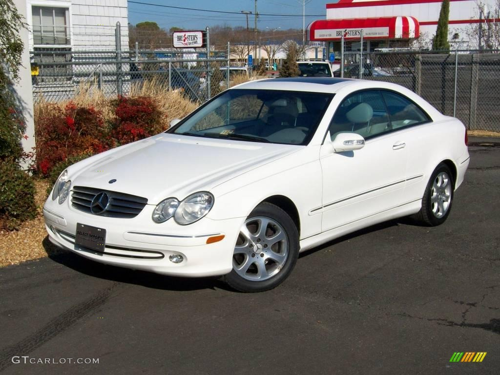 2004 alabaster white mercedes benz clk 320 coupe 2431303 for 2004 mercedes benz clk 500