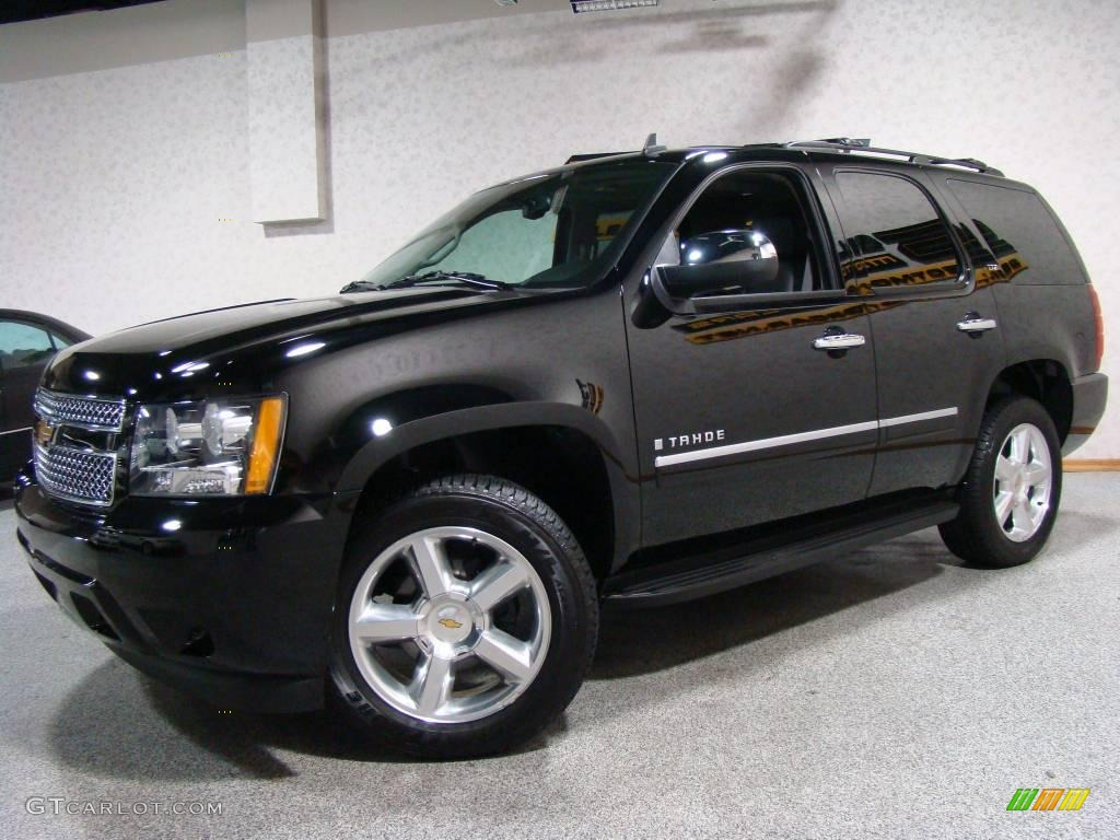 2009 black chevrolet tahoe ltz 4x4 24436464 car color galleries. Black Bedroom Furniture Sets. Home Design Ideas