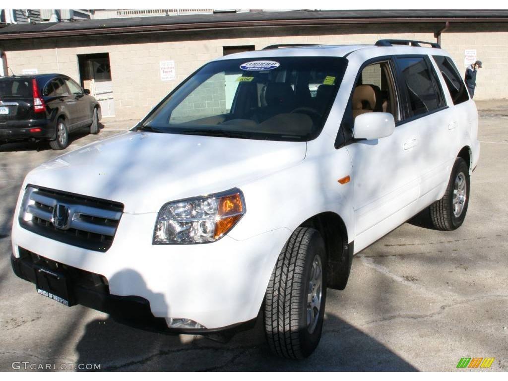 2007 Taffeta White Honda Pilot EX-L 4WD #24436423 ...