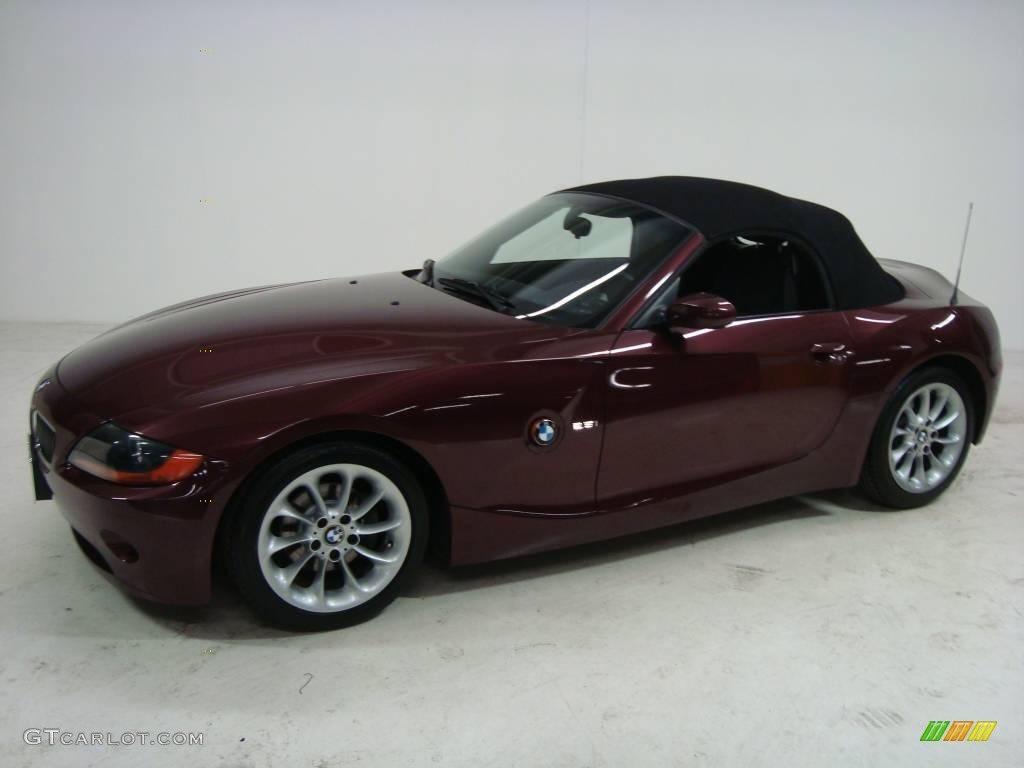 2003 Merlot Red Metallic Bmw Z4 2 5i Roadster 24436744
