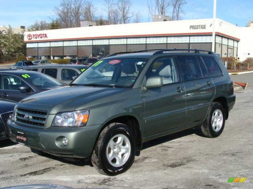 2007 Highlander 4wd Oasis Green Pearl Ash Gray Photo 1