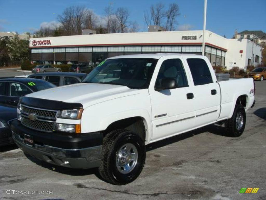 2005 silverado 2500hd work truck crew cab 4x4 summit white dark charcoal photo