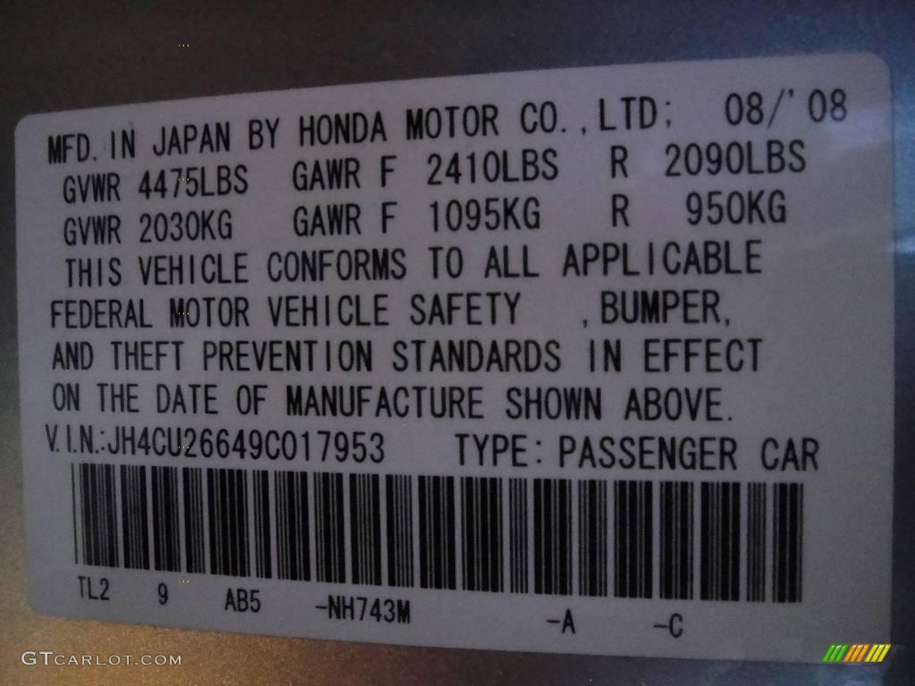 2009 TSX Sedan - Palladium Metallic / Ebony photo #15