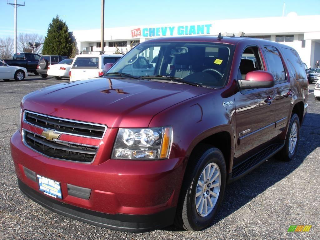 2009 Tahoe Hybrid 4x4 Deep Ruby Red Metallic Ebony Photo 1