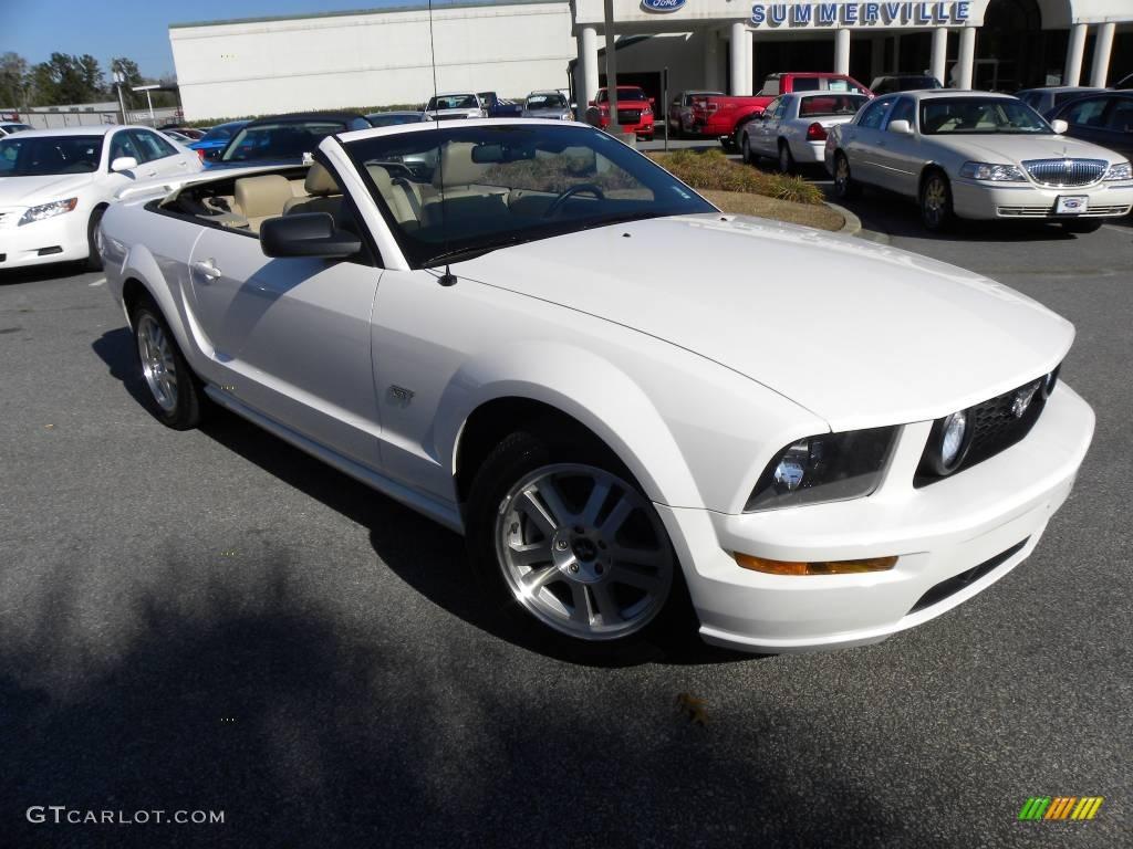 2007 Mustang GT Premium Convertible - Performance White / Medium Parchment photo #1