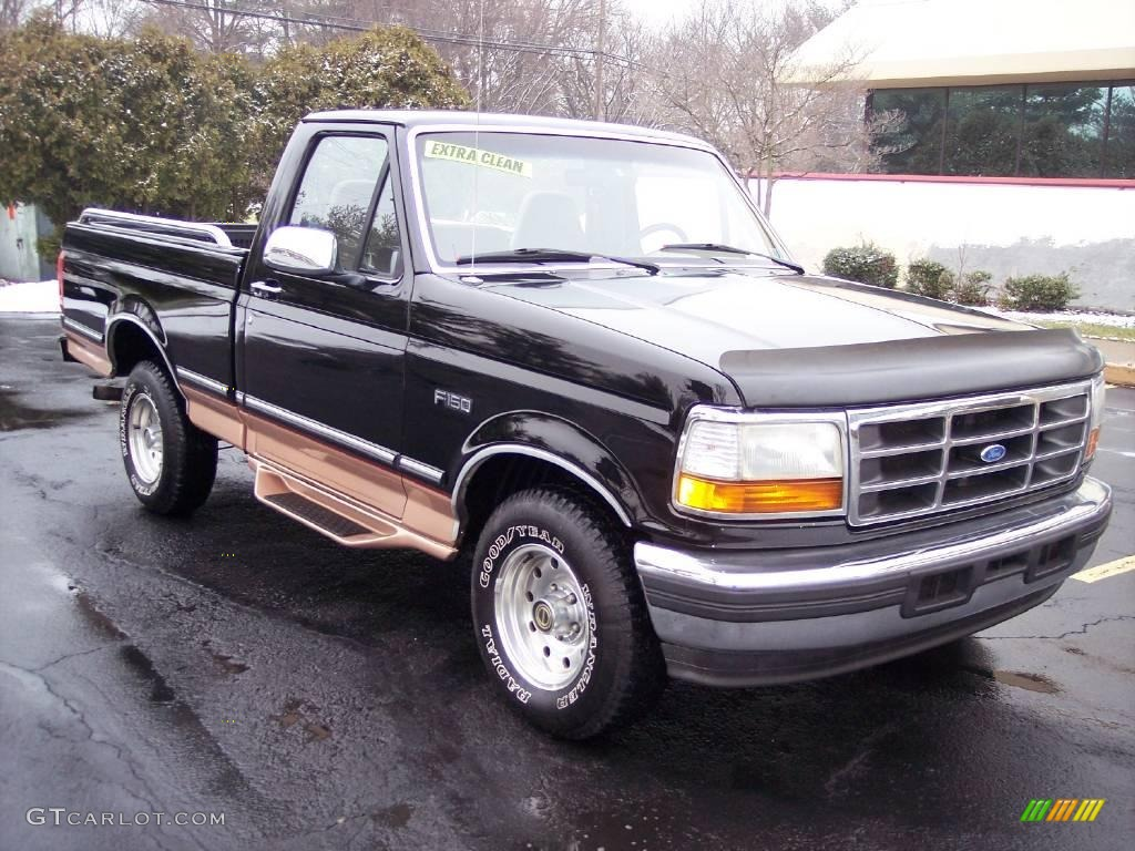 2002 Ford F150 Lariat Supercrew News >> 1995 Black Ford F150 Eddie Bauer Regular Cab #24436869 | GTCarLot.com - Car Color Galleries