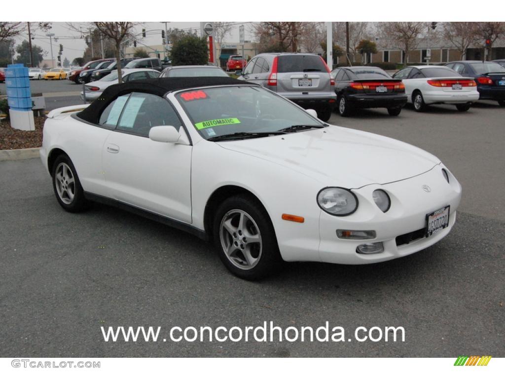 1999 Celica Gt Convertible Super White Black Photo 1