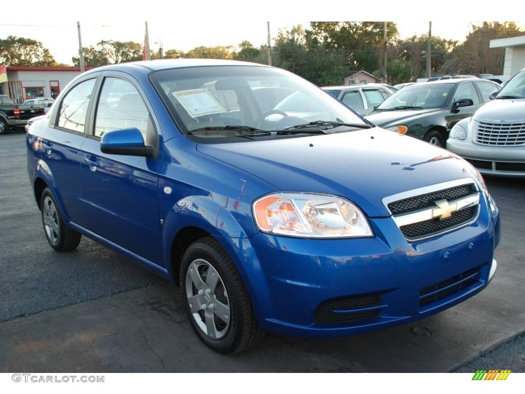 Bright Blue Metallic Chevrolet Aveo. Chevrolet Aveo LS Sedan