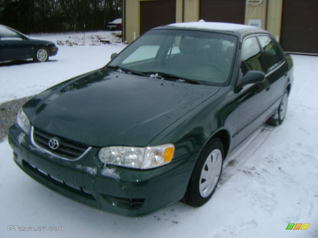 2001 Woodland Green Pearl Toyota Corolla Ce 24493004 Car Color Galleries