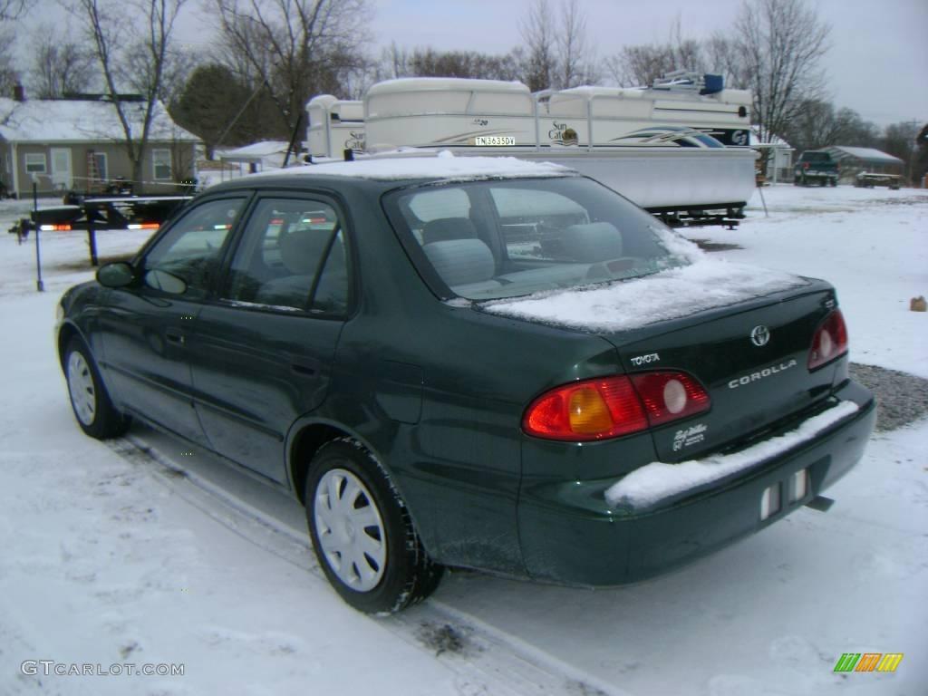 2001 Woodland Green Pearl Toyota Corolla Ce 24493004