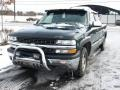 2001 Medium Green Pearl Metallic Chevrolet Silverado 1500 LS Extended Cab 4x4  photo #2