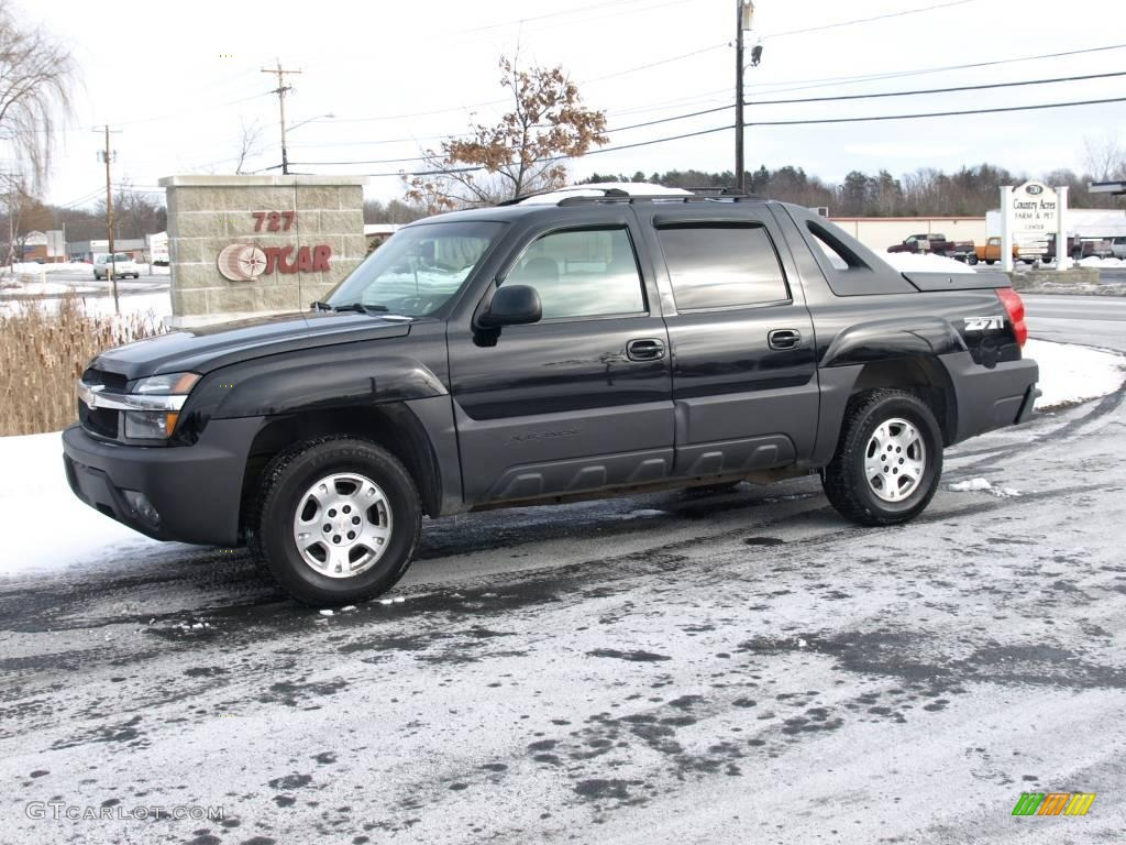 2003 black chevrolet avalanche 1500 z71 4x4 24493051 car color galleries. Black Bedroom Furniture Sets. Home Design Ideas