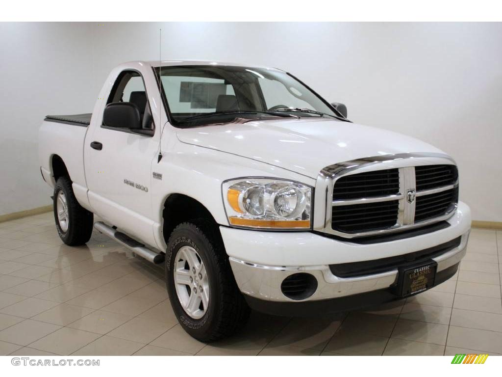 2006 Ram 1500 SLT Regular Cab 4x4 - Bright White / Medium Slate Gray photo #1