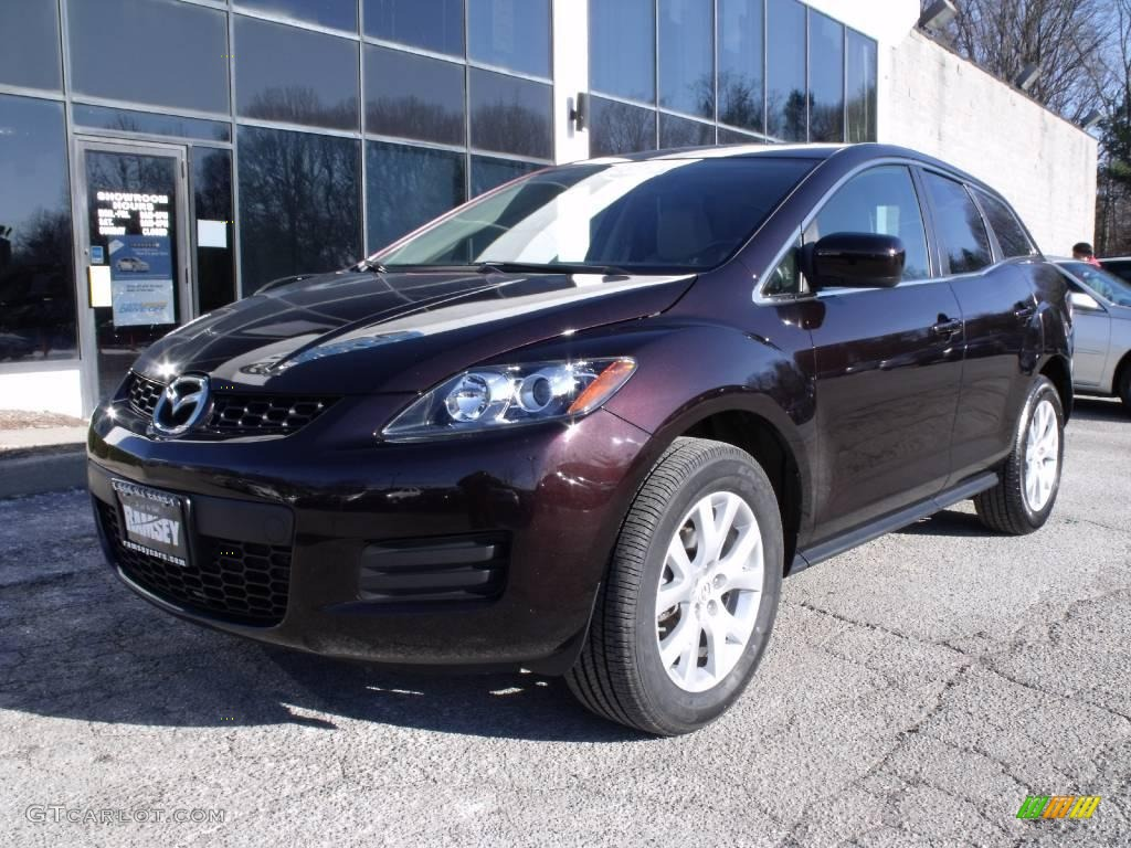 2007 black cherry mica mazda cx 7 sport 24493857. Black Bedroom Furniture Sets. Home Design Ideas