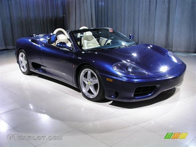 Blue 2004 Ferrari 360 Spider F1 Exterior Photo 246199