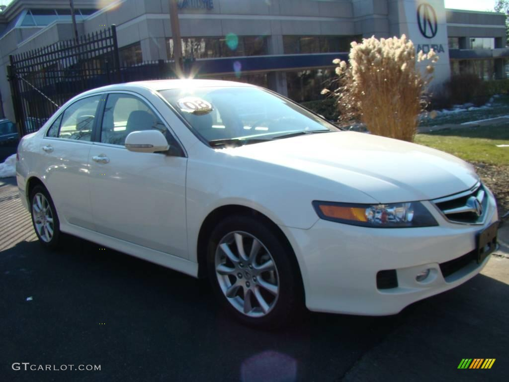 2008 TSX Sedan - Premium White Pearl / Parchment photo #1