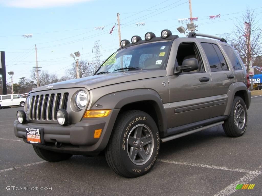 2006 dark khaki pearl jeep liberty renegade 4x4 #24587887