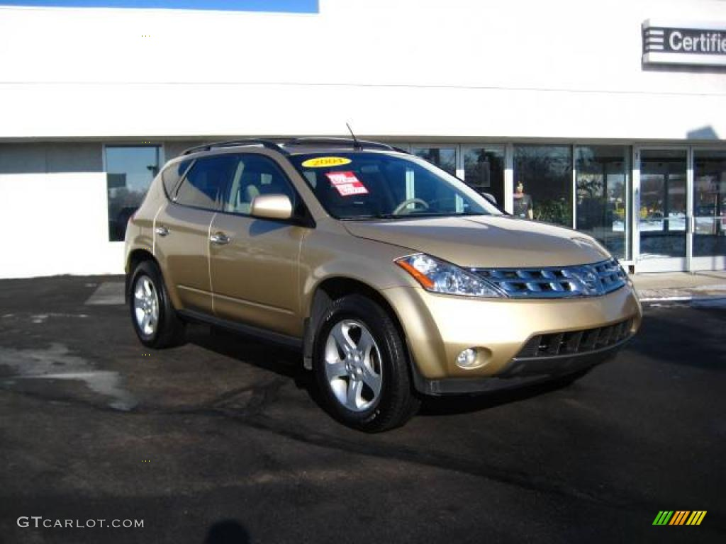 2004 luminous gold metallic nissan murano sl awd #24588423