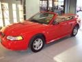 2000 Performance Red Ford Mustang V6 Convertible  photo #11