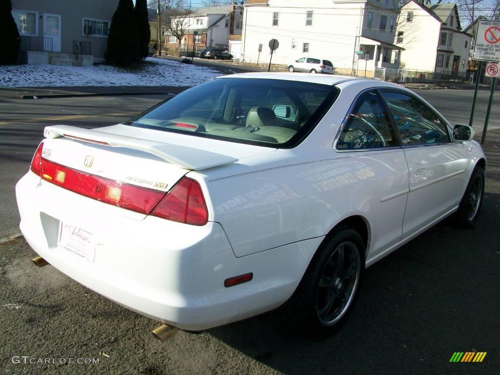 1999 Accord EX V6 Coupe   Taffeta White / Ivory Photo #4
