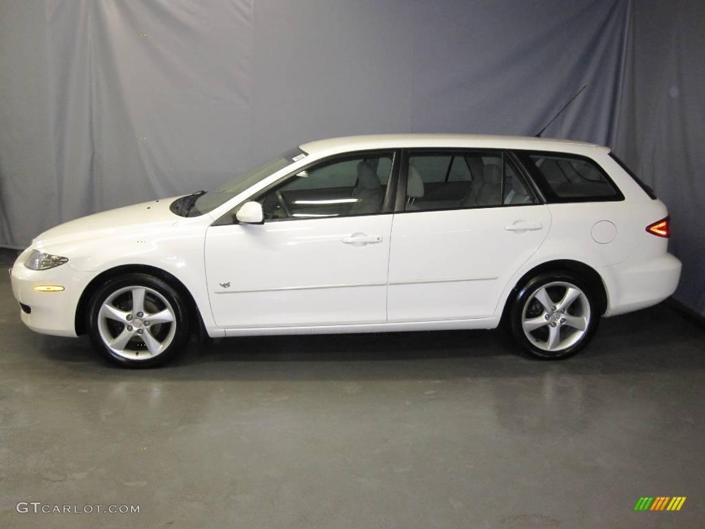 mazda 6 2004 white. 2004 mazda6 s sport wagon performance white beige photo 2 mazda 6