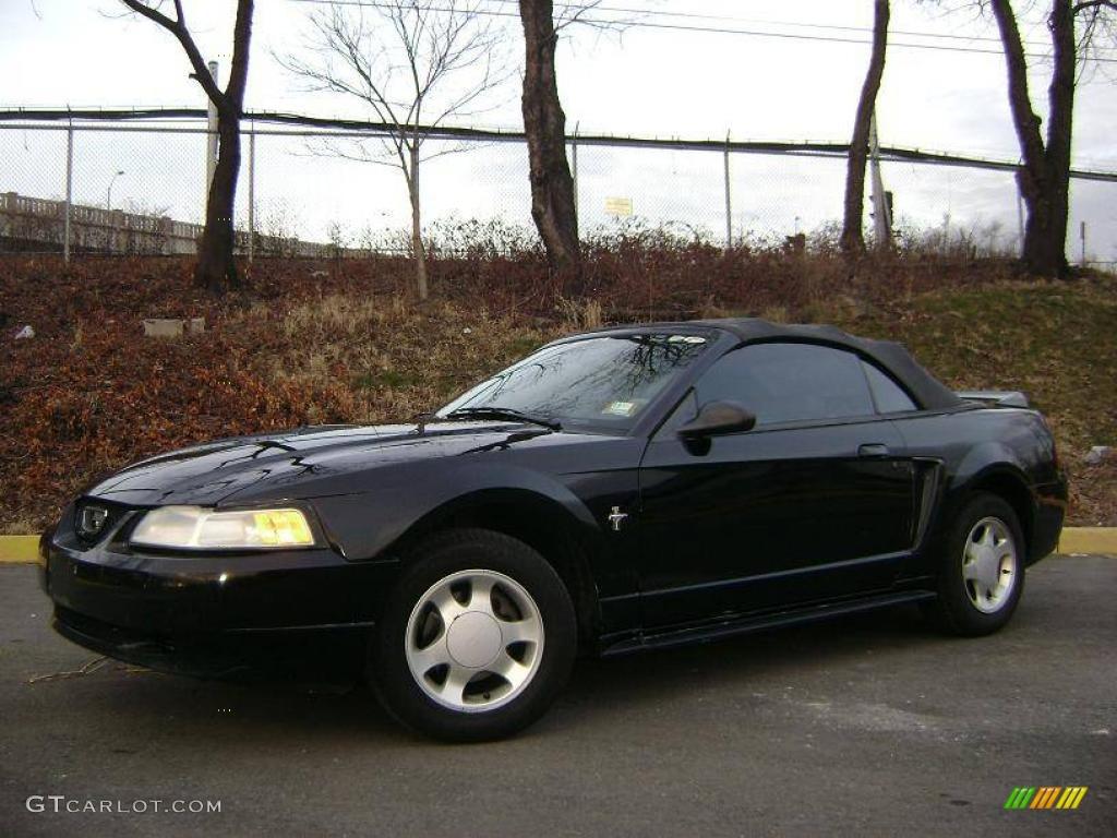 2000 black ford mustang v6 convertible 24589027. Black Bedroom Furniture Sets. Home Design Ideas