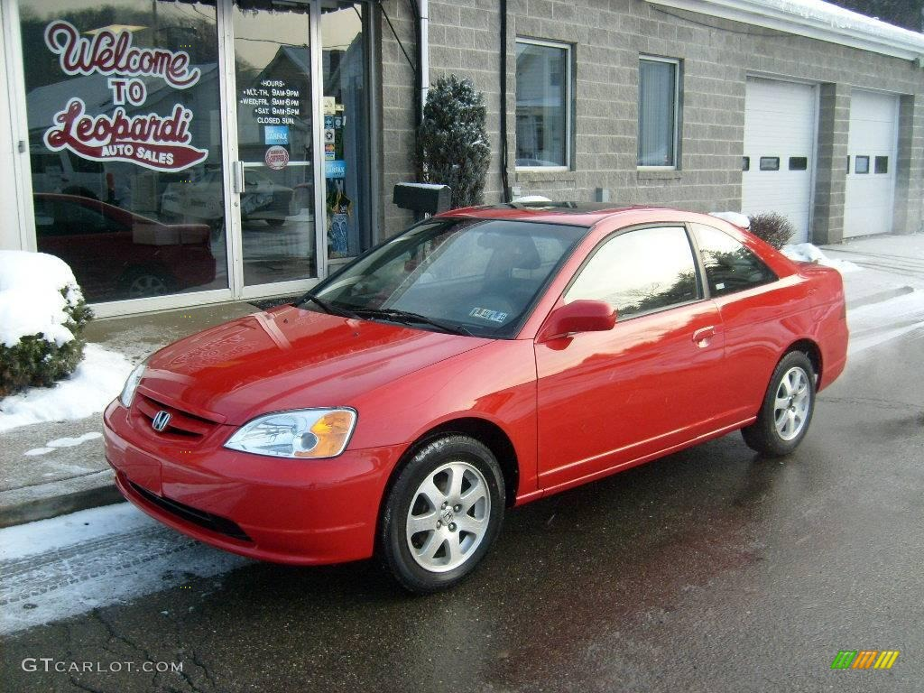 2003 rallye red honda civic ex coupe 24589054 car color galleries. Black Bedroom Furniture Sets. Home Design Ideas