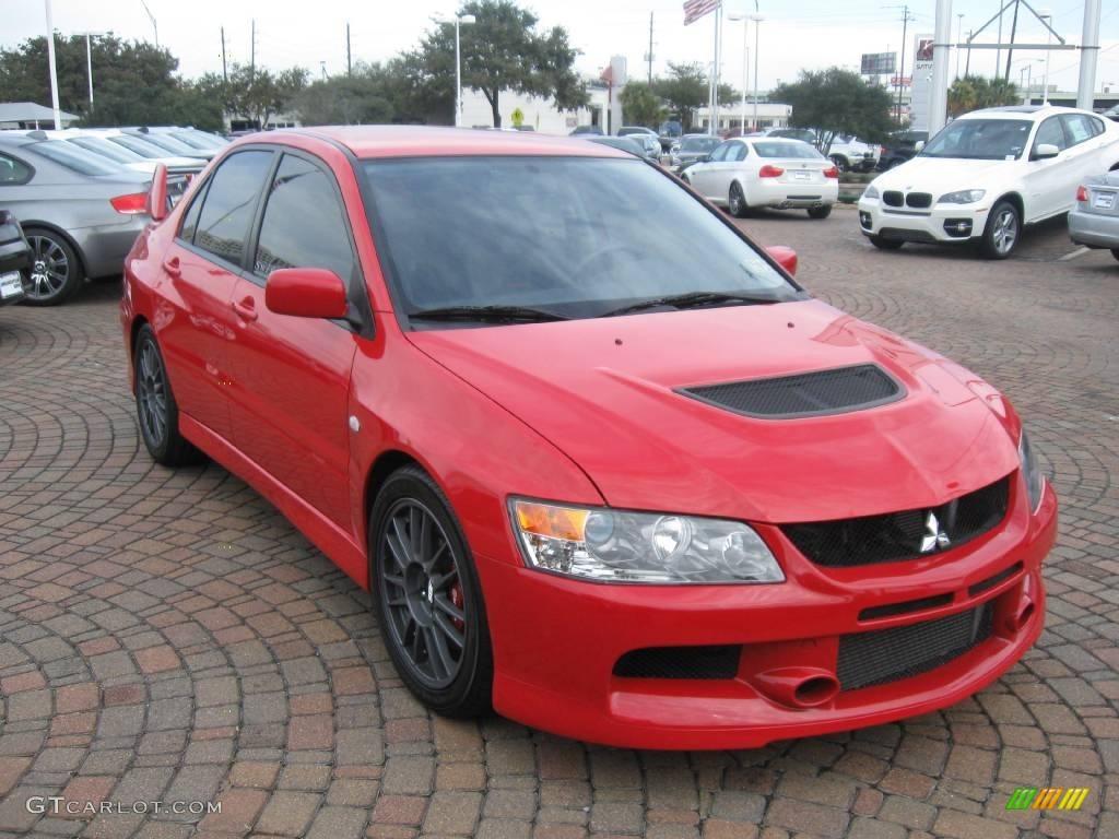 Rally Red 2006 Mitsubishi Lancer Evolution IX MR Exterior ...