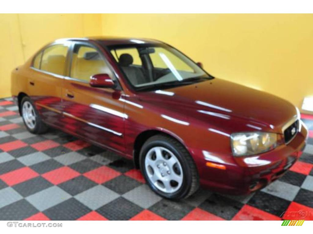2001 Cranberry Hyundai Elantra Gls 24693725 Photo 5