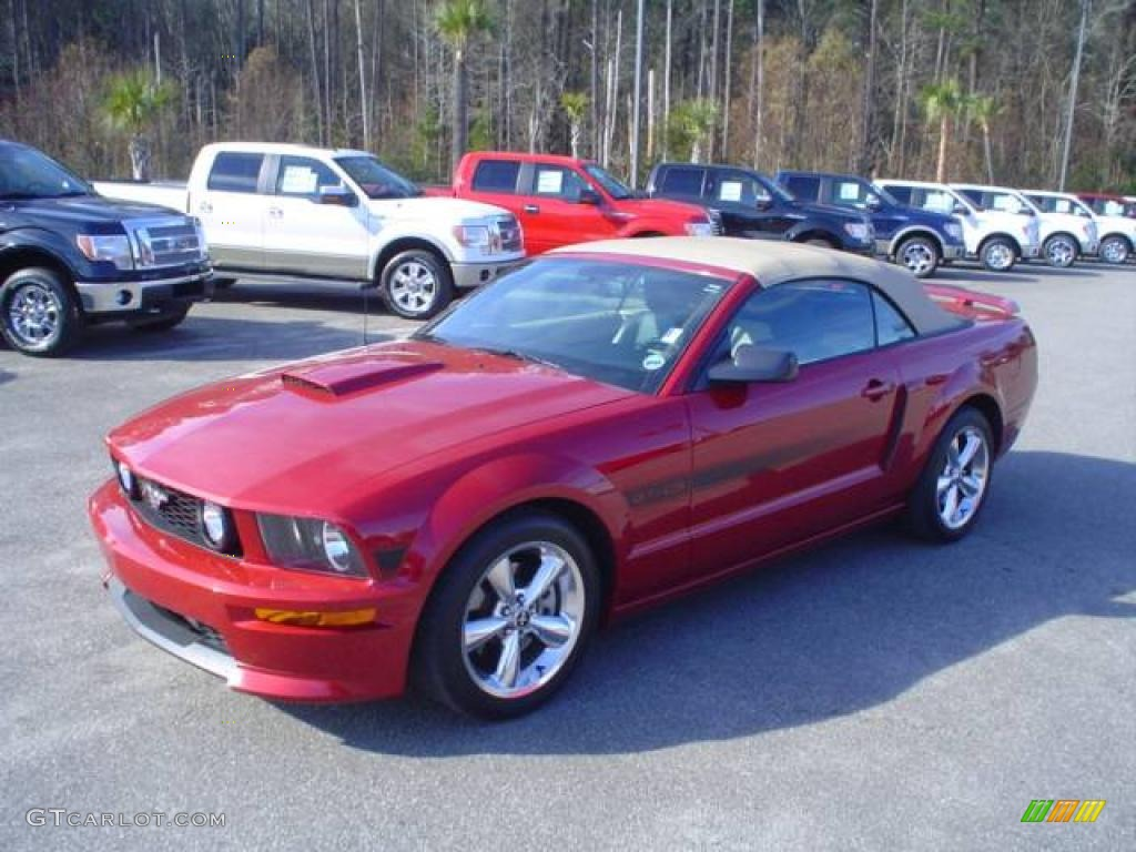 2008 Dark Candy Apple Red Ford Mustang Gt Cs California