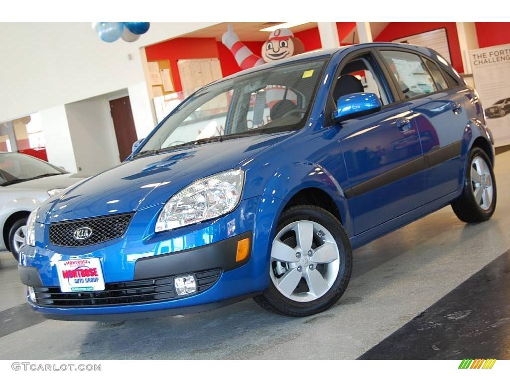 2009 Kia Rio5 Sx All About Sapphire Blue Rio Hatchback 24753259 Gtcarlot