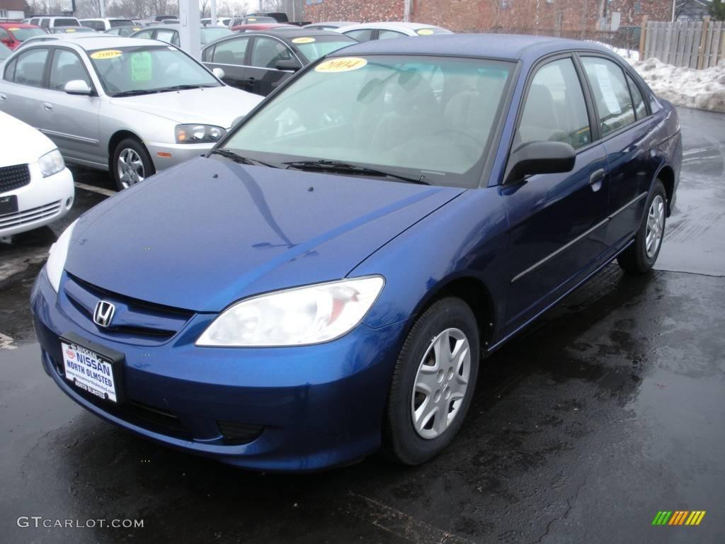 2004 Civic Value Package Sedan Eternal Blue Pearl Ivory Beige Photo 1