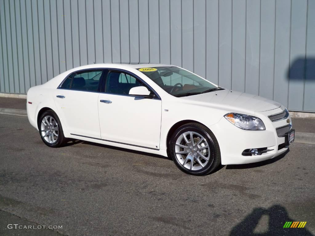 2008 white chevrolet malibu ltz sedan 2480001 gtcarlot. Black Bedroom Furniture Sets. Home Design Ideas