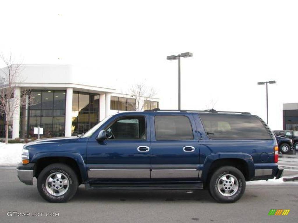 2002 indigo blue metallic chevrolet suburban 1500 lt 4x4 24753544 car color. Black Bedroom Furniture Sets. Home Design Ideas
