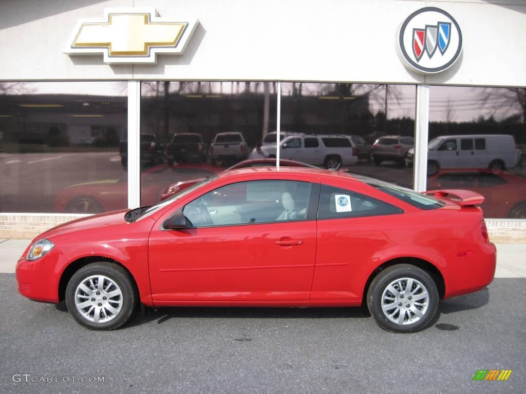 2010 Cobalt LS Coupe   Victory Red / Gray Photo #1