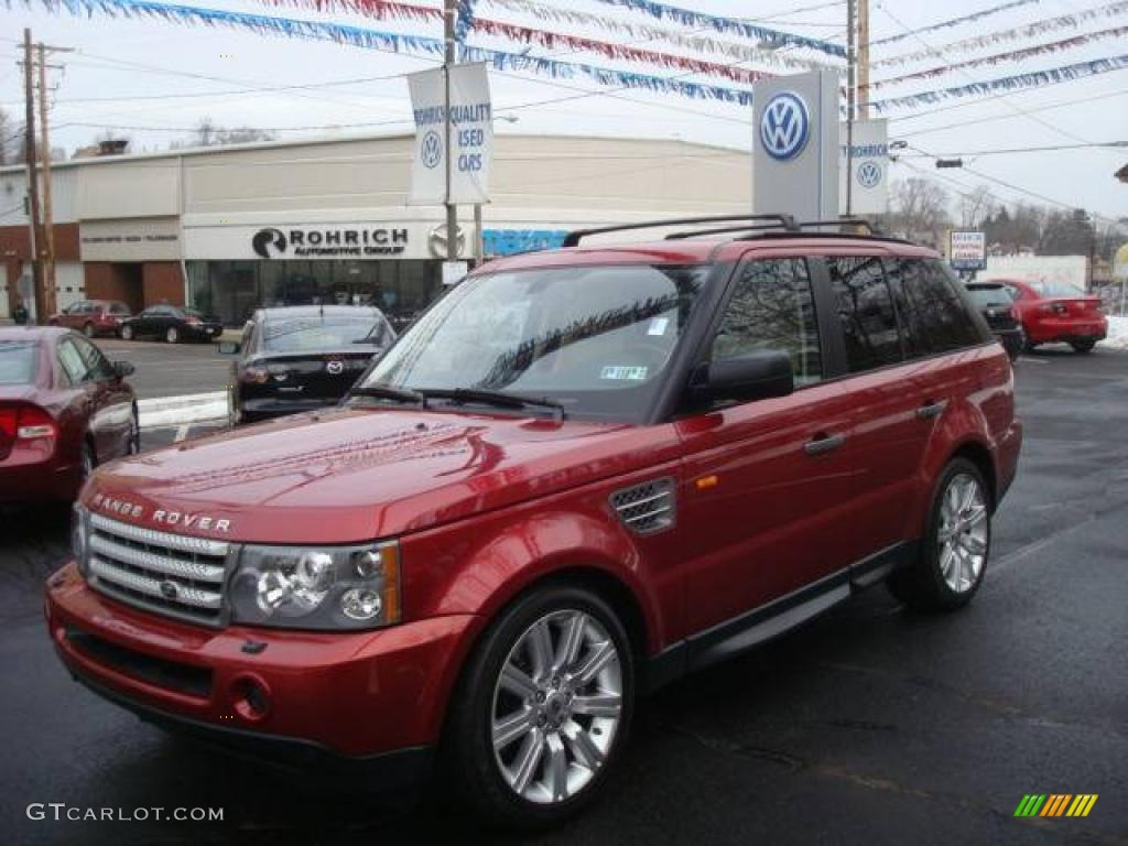 2007 Rimini Red Metallic Land Rover Range Rover Sport Supercharged