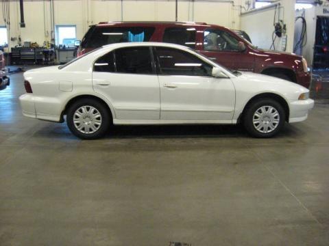 2001 Northstar White Mitsubishi Galant ES
