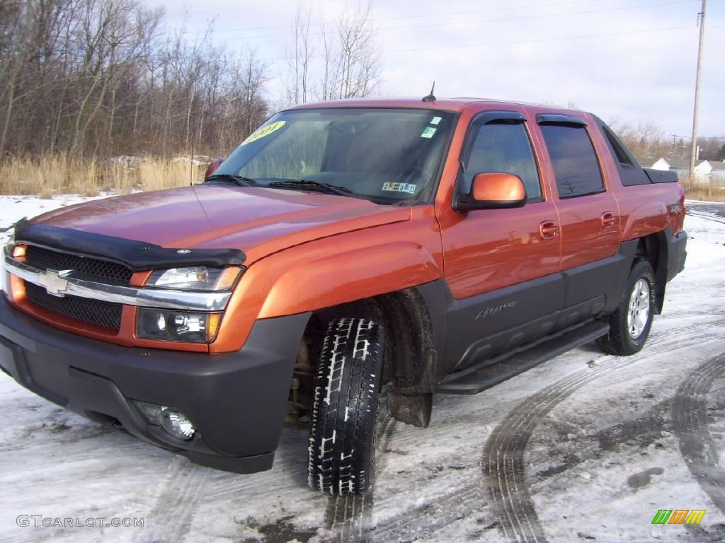 2004 sunburst orange metallic chevrolet avalanche 1500 z71 4x4 24874770 car. Black Bedroom Furniture Sets. Home Design Ideas
