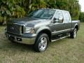 Dark Shadow Gray Metallic 2006 Ford F250 Super Duty Lariat Crew Cab 4x4