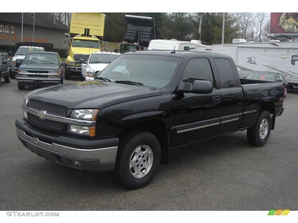 2003 black chevrolet silverado 1500 lt extended cab 4x4 24901454 car color. Black Bedroom Furniture Sets. Home Design Ideas
