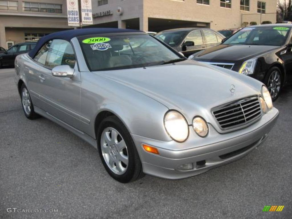 2000 Brilliant Silver Metallic Mercedes Benz Clk 320