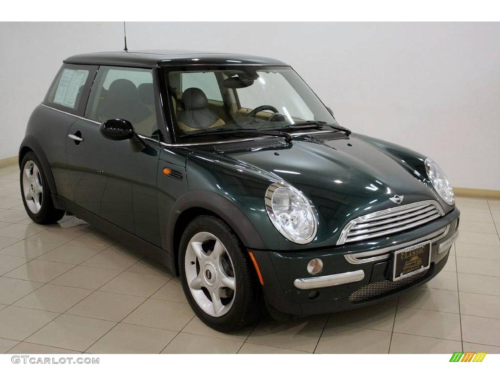 2004 british racing green metallic mini cooper hardtop 24945405 car color. Black Bedroom Furniture Sets. Home Design Ideas