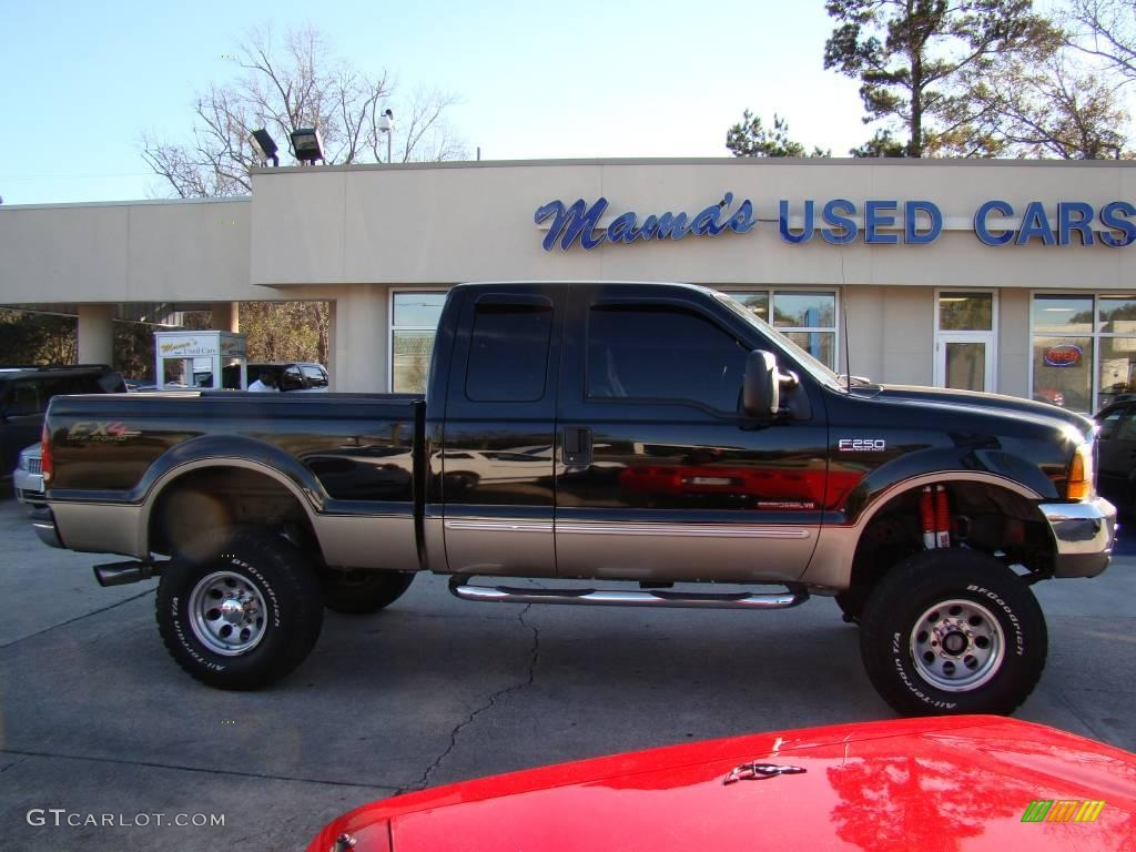 2000 Black Ford F250 Super Duty Lariat Extended Cab 4x4 24945176 F 250