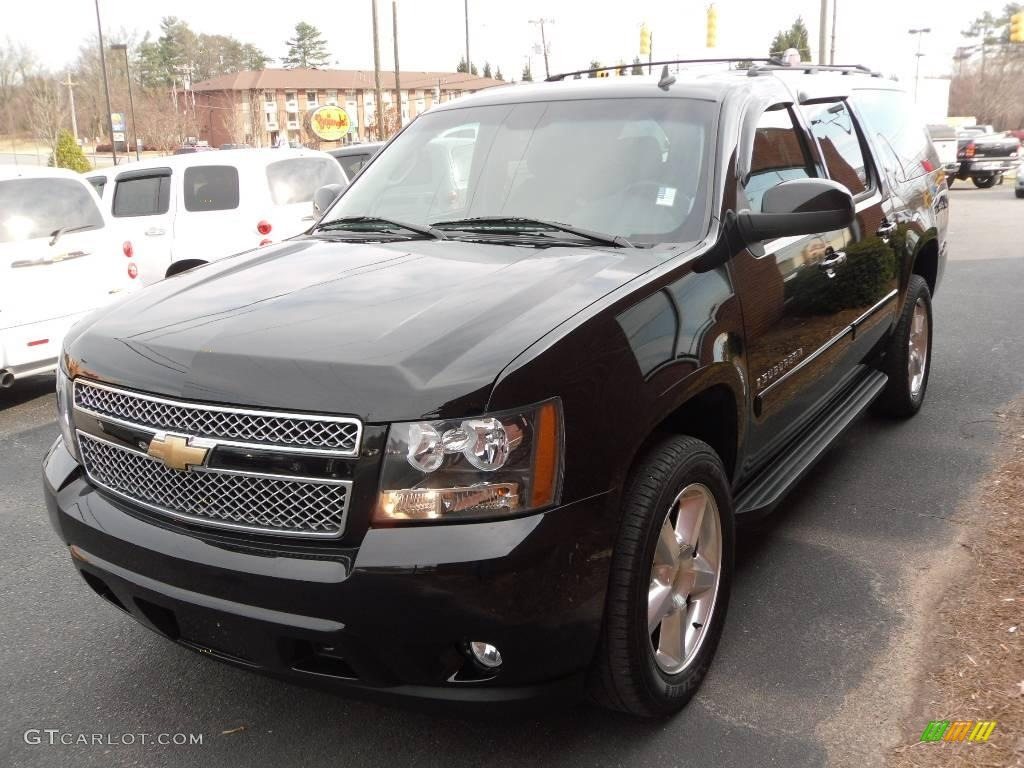 2007 black chevrolet suburban 1500 lt 4x4 24999556. Black Bedroom Furniture Sets. Home Design Ideas