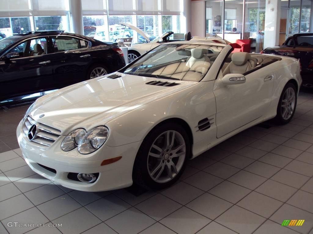 2008 alabaster white mercedes benz sl 550 roadster for White mercedes benz