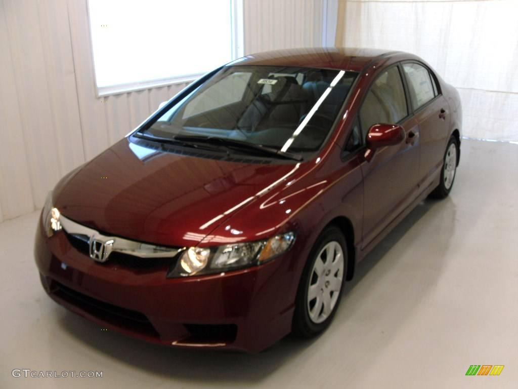 2010 tango red pearl honda civic lx sedan 24999542 photo 2 car color galleries. Black Bedroom Furniture Sets. Home Design Ideas