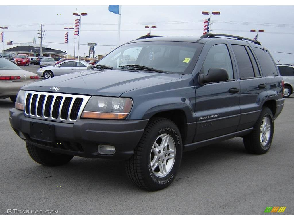 2002 Steel Blue Pearlcoat Jeep Grand Cherokee Laredo 4x4 24999182